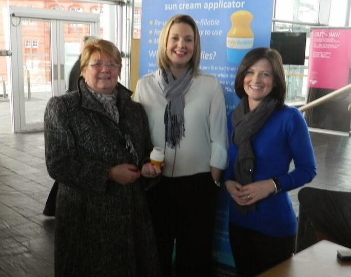 Presenting Solar Buddies to MPs at the Senedd, Cardiff